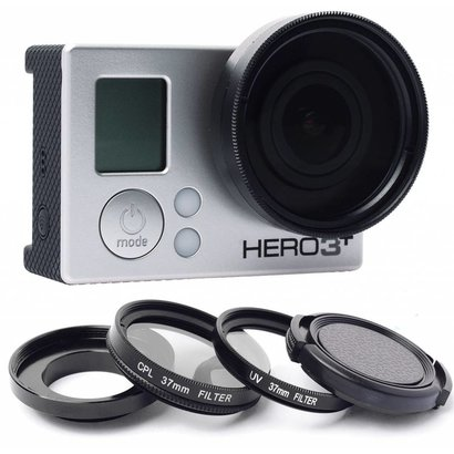 Geeek 37mm Objektiv / UV Filter / Polarizer Set für GoPro