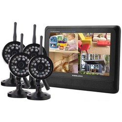 Geeek Wireless Security Set with 4 Wireless Cameras with Screen
