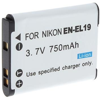 Accu - Batterij voor Nikon EN-EL19 - 750 mAh