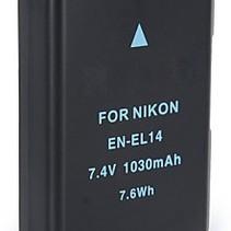 Accu / Batterij voor Nikon EN-EL14 - 1030 mAh