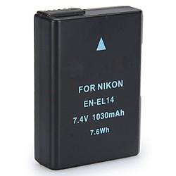 Geeek Accu / Batterij voor Nikon EN-EL14 - 1030 mAh