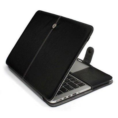 Geeek dünne Lederhülle für MacBook 12-Zoll - Schwarz