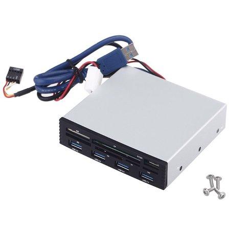 Geeek Einbau- Kartenlesegerät für SB 3.0 + USB 3.0 Card Reader CF SD MS XD TF M2