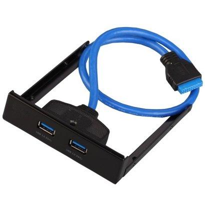 Geeek 2 Ports USB 3.0 Adapter Vorderansicht – Schwarz