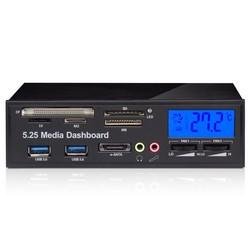 Geeek LCD USB-3.0 Armaturenbrett-Frontplatte mit Kartenleser für den PC