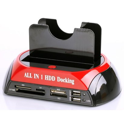 Geeek All-in-one Dual HDD Docking Station Backup-IDE-Festplatte Kartenleser
