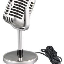Klassisches Oldskool Vintage Mikrofon