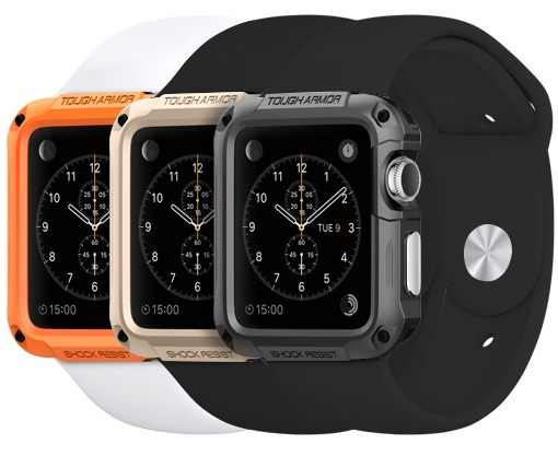 Spigen Tough Armor Case voor Apple Watch 42mm Goud