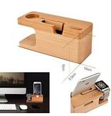 Geeek Bamboe Houten Docking Station Dock voor Apple Watch en iPhone