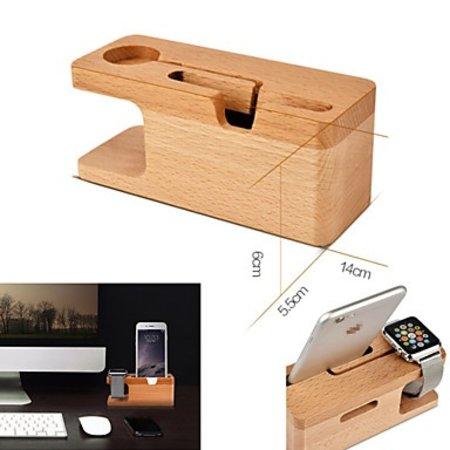 Geeek Bambus-Holz-Docking-Station-Dock für Apple Watch und iPhone