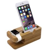Geeek Bambus-Holz-Docking-Station-Dock für Apple Watch und iPhone
