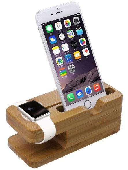 bambus holz docking station dock f r apple watch und iphone jetzt g nstig kaufen. Black Bedroom Furniture Sets. Home Design Ideas