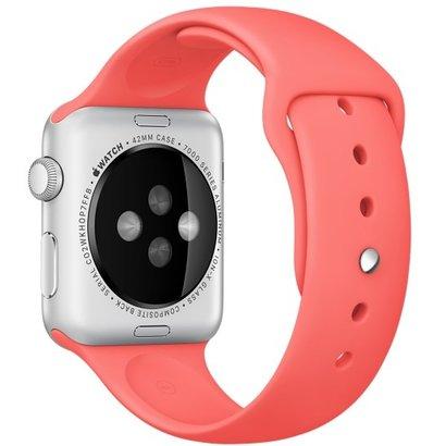 Geeek Silikon Apple-Watch-Sport-Bügel 42mm - Rosa