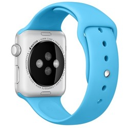 Geeek Silicone Rubber Sport Strap 42 mm Sportbandje voor Apple Watch - Blauw
