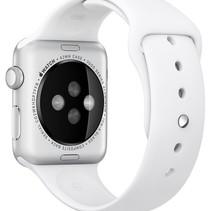 Silicone Rubber Sport Strap 42 mm Sportbandje voor Apple Watch - Wit
