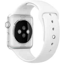 Geeek Silicone Rubber Sport Strap 42 mm Sportbandje voor Apple Watch - Wit