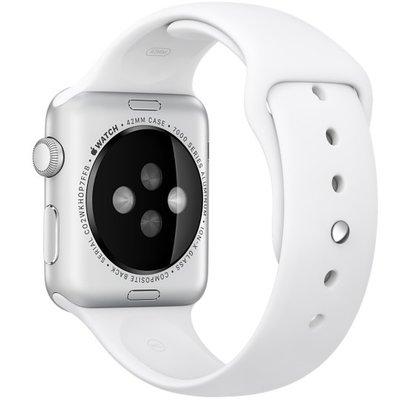 Geeek  Silikonkautschuk Sportband 42 mm Sportband für Apple Watch - Weiß