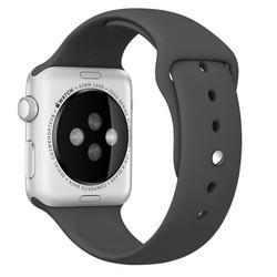 Geeek Silicone Rubber Sport Strap 42 mm Sportbandje voor Apple Watch - Zwart