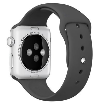 Geeek Silikon Apple-Watch-Sport-Bügel 42mm – Schwarz