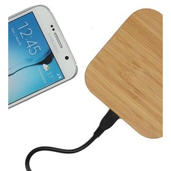 Geeek Universele wooden qi wireless charger /charge pad fast loading with usb-cable square
