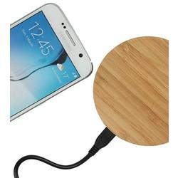 Geeek Universele Houten Wireless Plate Draadloze Oplader Oplaad Pad Rond