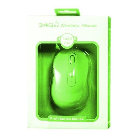Geeek Fruit Series Maus - Apple 2,4-GHz-Funk Maus – Grün