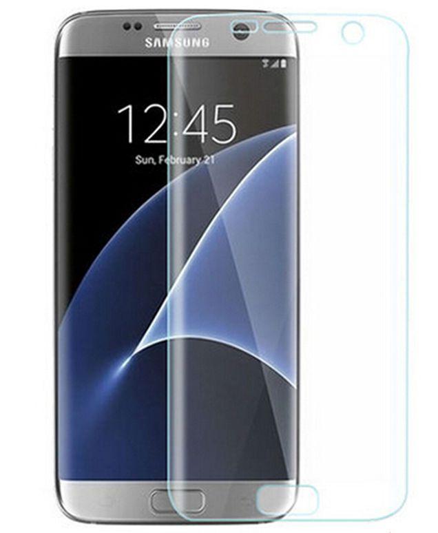 Vores PanserGlas til Samsung Galaxy S7 Edge som dækker hele skærmen, og er gennemsigtigt