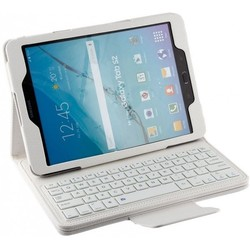Geeek Bluetooth Keyboard Case Cover Samsung Tab 9.6 E White