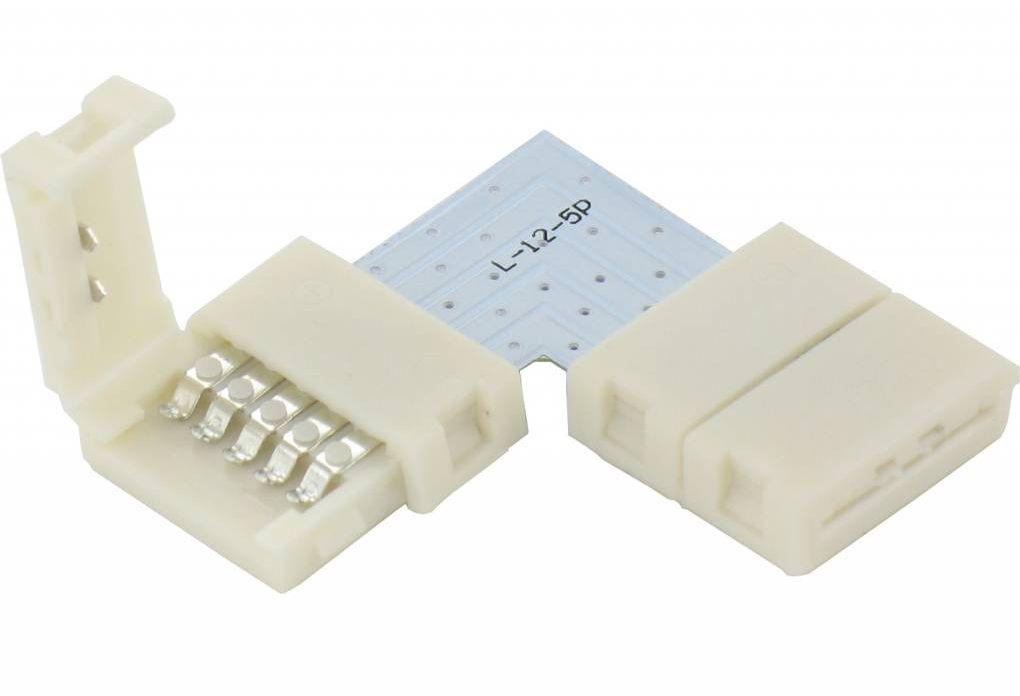 RGBW Led Strip Click Hoekconnector 90 graden Koppelstuk Soldeervrij