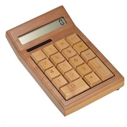 Geeek Taschenrechner aus Bambusholz