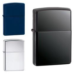 Geeek Luxury Petrol Lighter Black Blue Silver