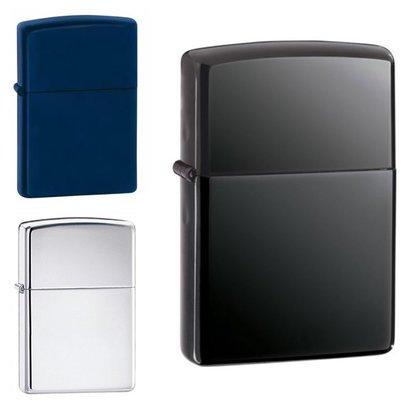 Geeek Luxus Benzinfeuerzeug Schwarz Blau Silber