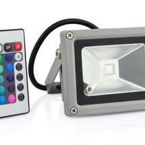10W LED Verstraler Schijnwerper Bouwlamp RGB