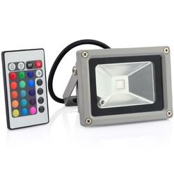 Geeek 10W LED Verstraler Schijnwerper Bouwlamp RGB