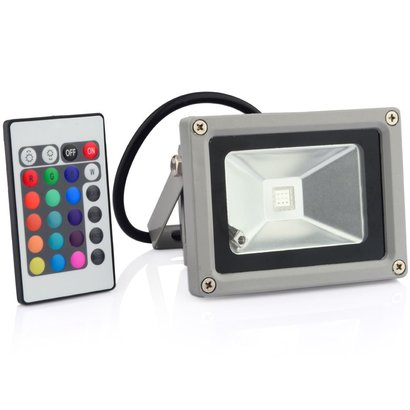 Geeek 10W LED Flutlicht RGB Bouwlamp Spotlight