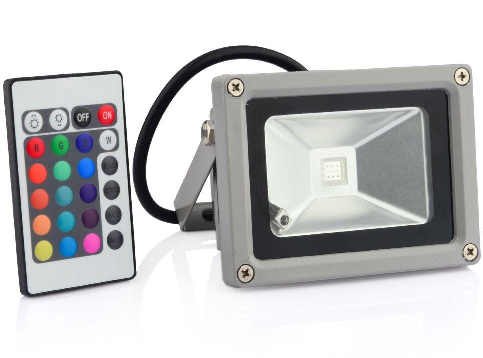 Geeek 10W LED Spotlight Floodlight RGB bouwlamp - Geeektech.com
