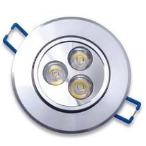 LED Einbau Runde 3 Watt Warmweiß 3 Stück