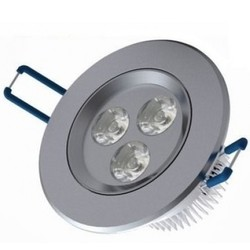Geeek Recessed LED 3 Watt Round Cold White 3 pieces