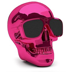 Geeek Aero XS Bluetooth Skull Skull Speaker Pink Rose