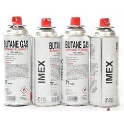 IMEX Imex Butaangaspatroon 227 g Butangas Tragbare Gasherd Camping (4 Stück)
