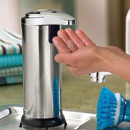 Geeek Luxus Automatischer Seifenspender Touch Freie Seifenspender Edelstahl-Look