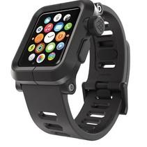EPIK Polycarbonat-Gehäuse mit Silikon-Band Apple Watch 42mm Schwarz