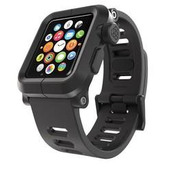 LunaTik EPIK Polycarbonat-Gehäuse mit Silikon-Band Apple Watch 42mm Schwarz