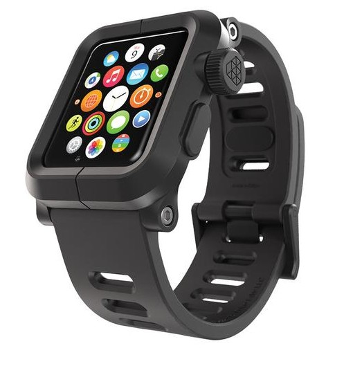 EPIK Polycarbonate Case met Silicone Band Apple Watch 42mm Zwart