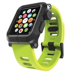 LunaTik EPIK Polycarbonate Case with Silicone Band Apple Watch 42mm Green