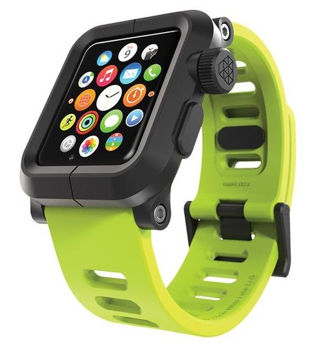 EPIK Polycarbonate Case met Silicone Band Apple Watch 42mm Groen