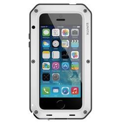 LunaTik Taktik STRIKE Schutzhülle iPhone 5 / 5s / SE Weiß
