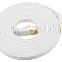 CAT7 10 Meter Platte High Speed Lan Netwerk Kabel UTP Wit
