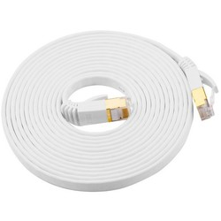 Geeek CATE7 10 Meter Platte High Speed ​​Lan Network Cable UTP White