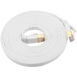 Geeek CATE7 10 Meter Platte Hochgeschwindigkeits-LAN-Netzwerkkabel UTP Weiß